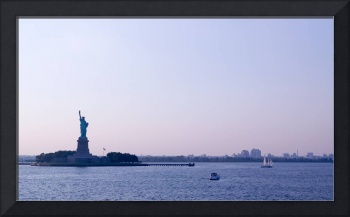 Statue of Liberty in The New York Harbor