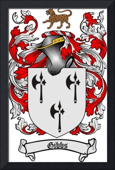 GIBBS FAMILY CREST - COAT OF ARMS