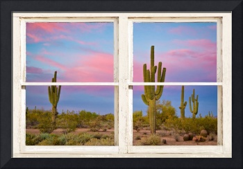 Colorful Southwest Desert Window Art View