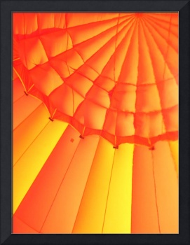 Balloon Interior, Hot Air Balloon, orange & yellow