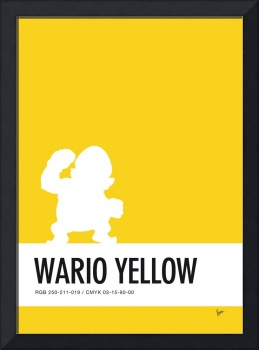 No43 My Minimal Color Code poster Wario