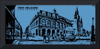 Jackson Square New Orleans in Blue