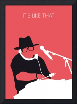 No022 MY RUN DMC Minimal Music poster
