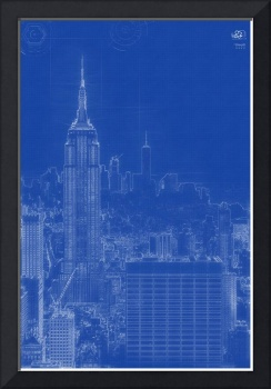 Archtectural Blueprint Drawing - Manhattan, New Yo