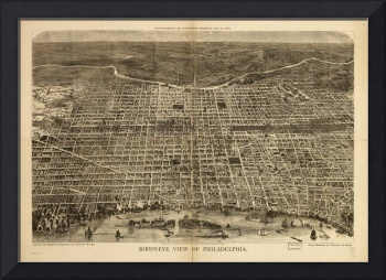 Bird's eye view of Philadelphia Pennsylvania (1872