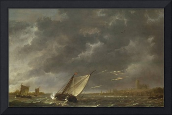 Aelbert Cuyp - The Maas at Dordrecht in a Storm