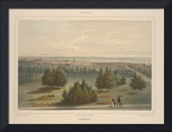 Vintage Pictorial View of Toronto Canada (1851)