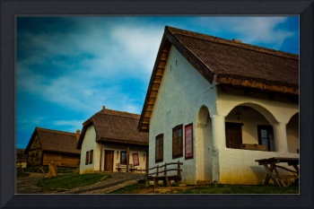 Hungarian peasant house with thatch