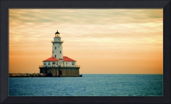 Chicago Harbor Lighthouse, Sunset