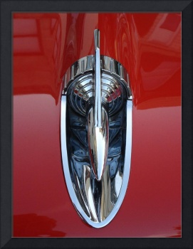 Hood Ornament on Red