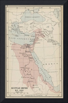 Vintage Map of The Egyptian Empire (1913)
