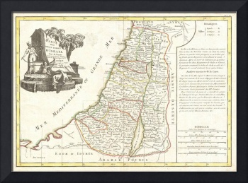 Vintage Map of Israel (1770)
