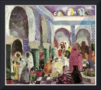 Patio in Algiers by Charles Dufresne