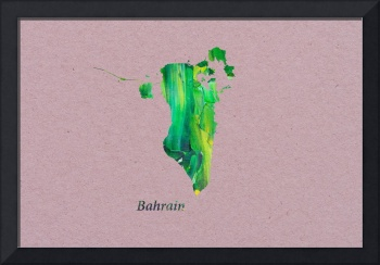 Artistic Map of Bahrain
