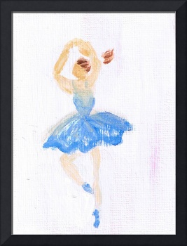 Ballerina in Blue Ballet Tulle by Marie L.