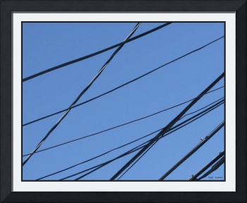 Utility Wires Criss Cross B