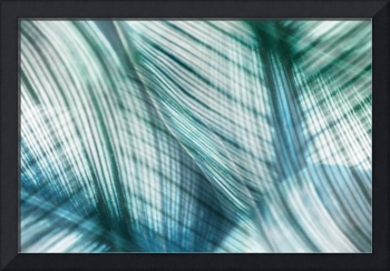 Nature Leaves Abstract in Turquoise and Jade