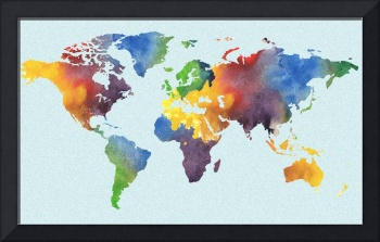 Watercolor World Map by Irina Sztukowski