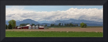 Panoramic Agriculture Rocky Mountain Landscape