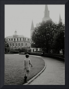 Jackson Square, a Month Before Katrina, New Orlean