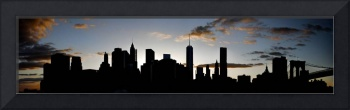 Lower Manhattan Skyline Silhouette