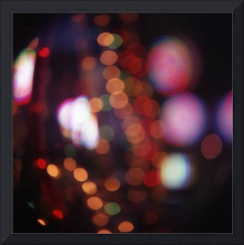Red purple abstract photo of bokeh lights square