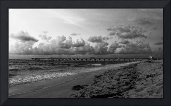 Juno Beach Pier Florida Sunrise Seascape C7BW