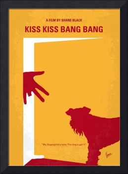 No452 My Kiss Kiss Bang Bang minimal movie poster