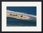 New North Beach Break Aerial at Chatham Cape Cod by Christopher Seufert