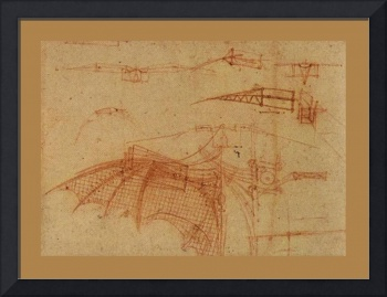 Design For A Flying Machine 1  1500 AD  Medium Bor