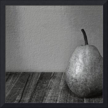 Pear with Grey Wall