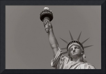 Top of The Statue of Liberty (Black & White)