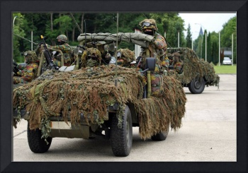 A recce or scout team of the Belgian Army in their
