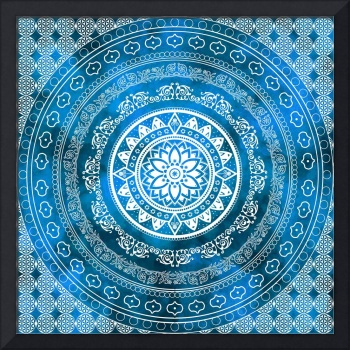 Sapphire Destiny Blue & White Flower Of Life Boho