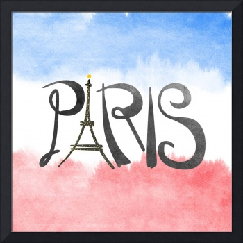 Paris Eiffel Tower Flag Logo