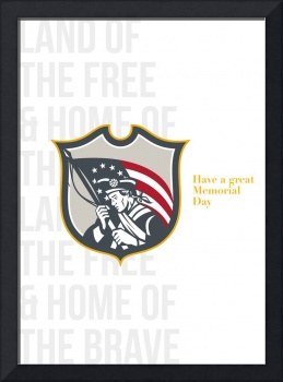 Memorial Day Greeting Card Patriot Holding America