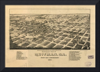1885 Quitman, GA Bird's Eye View Panoramic Map