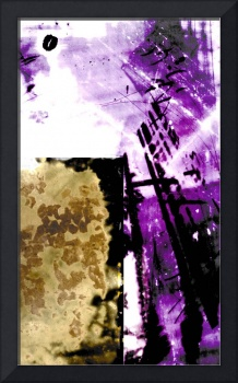 abstraction purple and tan and white cameraless li