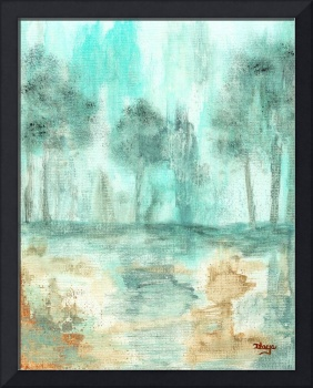 Memory From Original Painting Of Trees
