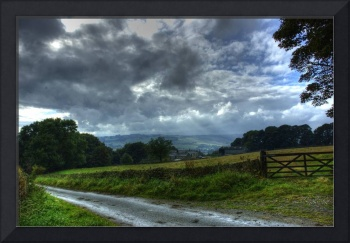 HDR Countryside - valley in Light