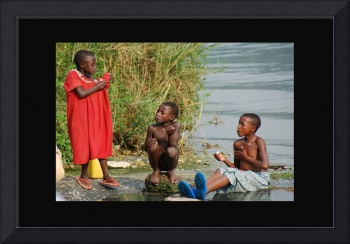 Kids At Lake Kivu Hotsprings