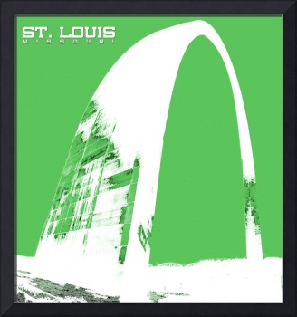 St Louis Arch in Green
