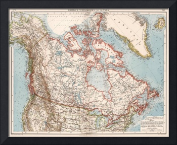 Vintage Map of Canada (1905)