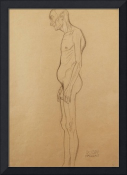 Nude Man; Nackter Man Nach Links, (pencil on paper