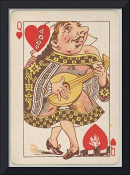 Vintage Queen of Hearts Playing Card (1889)