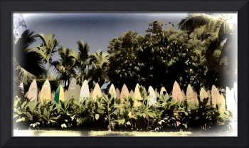 Surfboard Fence - Old Postcard