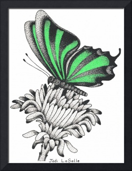 Ribbons#1 - Resting Butterfly(Green)