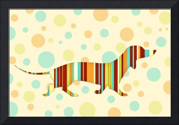 Dachshund Fun Colorful Abstract