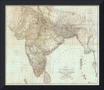 Map of India by James Rennell (1788)