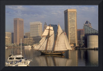 Pride of Baltimore ll Sails Inner Harbor #1